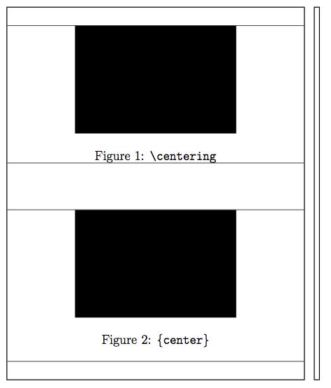 centering vs center